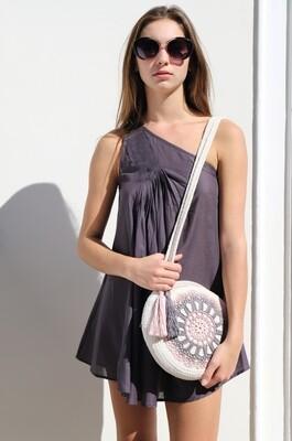 Pearl straw bag