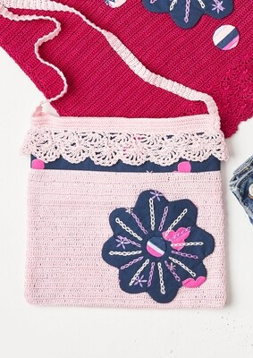Blue Flower Patch Bag