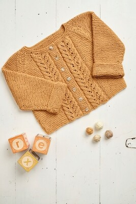 Cable Knit Baby Cardigan