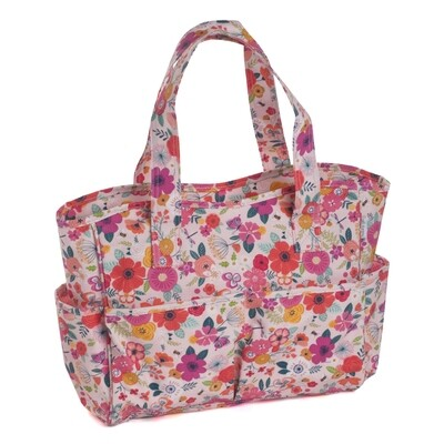 Craft Bag - Floral Garden Pink