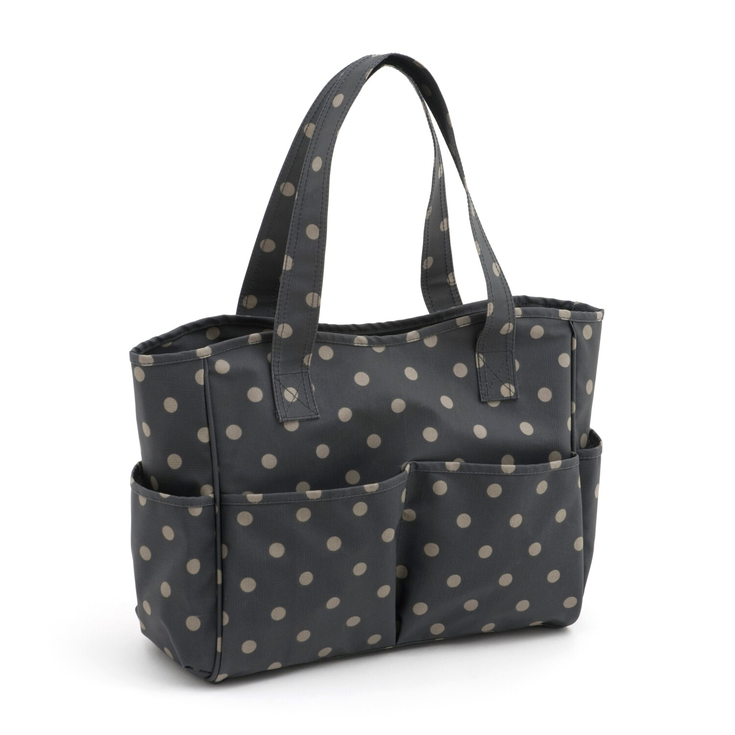 Craft Bag - Charcoal Polka Dot
