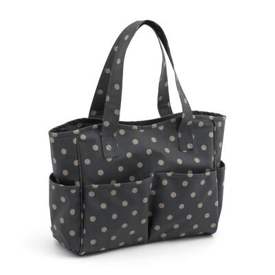 Craft Bag - Charcoal Polka Dot