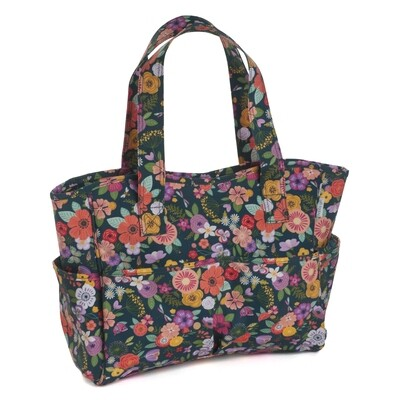 Craft Bag - Floral Garden Teal