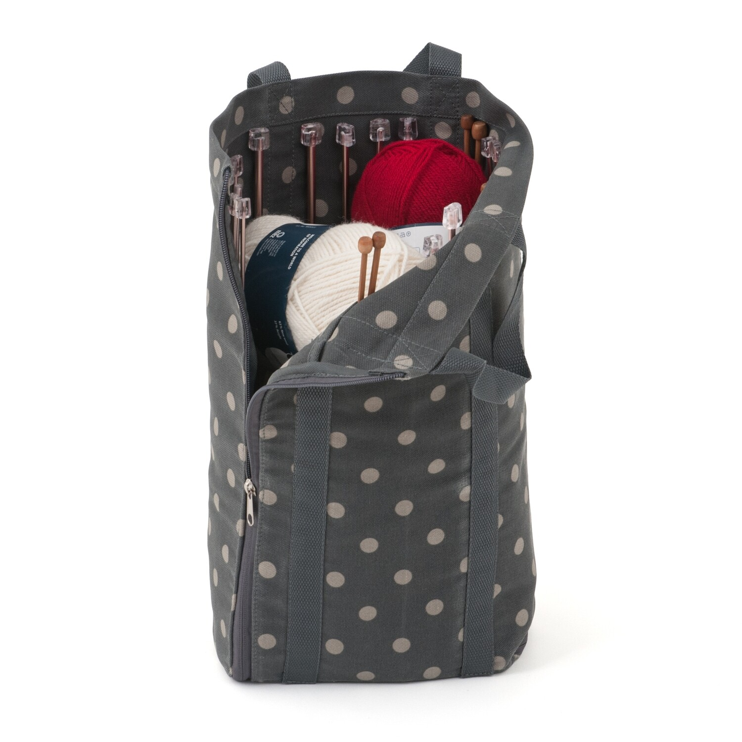 Knit Bag with Pin Storage - Charcoal Spot