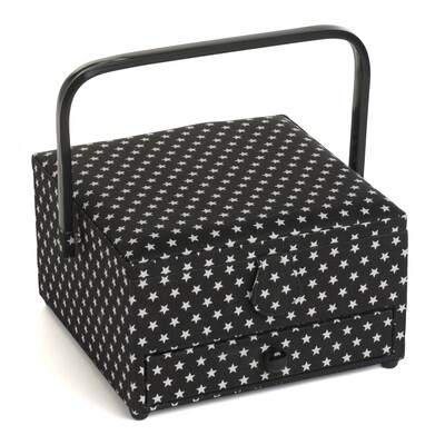 Sewing Box Large with Drawer - Black Star
