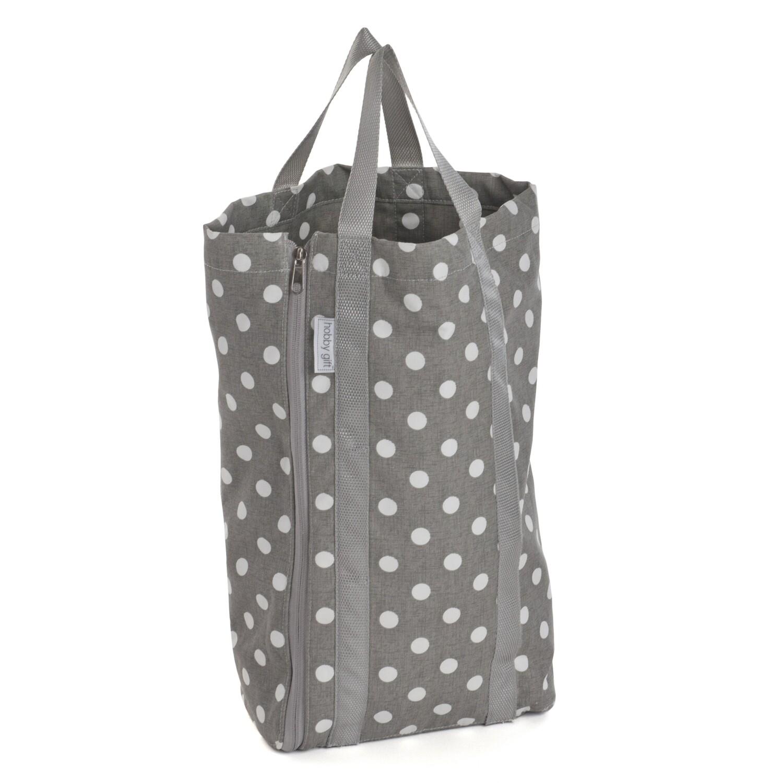 Knit Bag with Pin Storage - Grey Spot