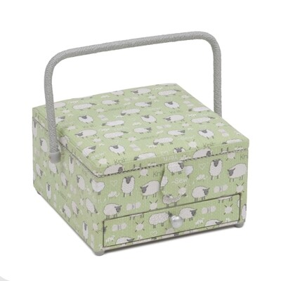 Sewing Box Large with Drawer - Sheep
