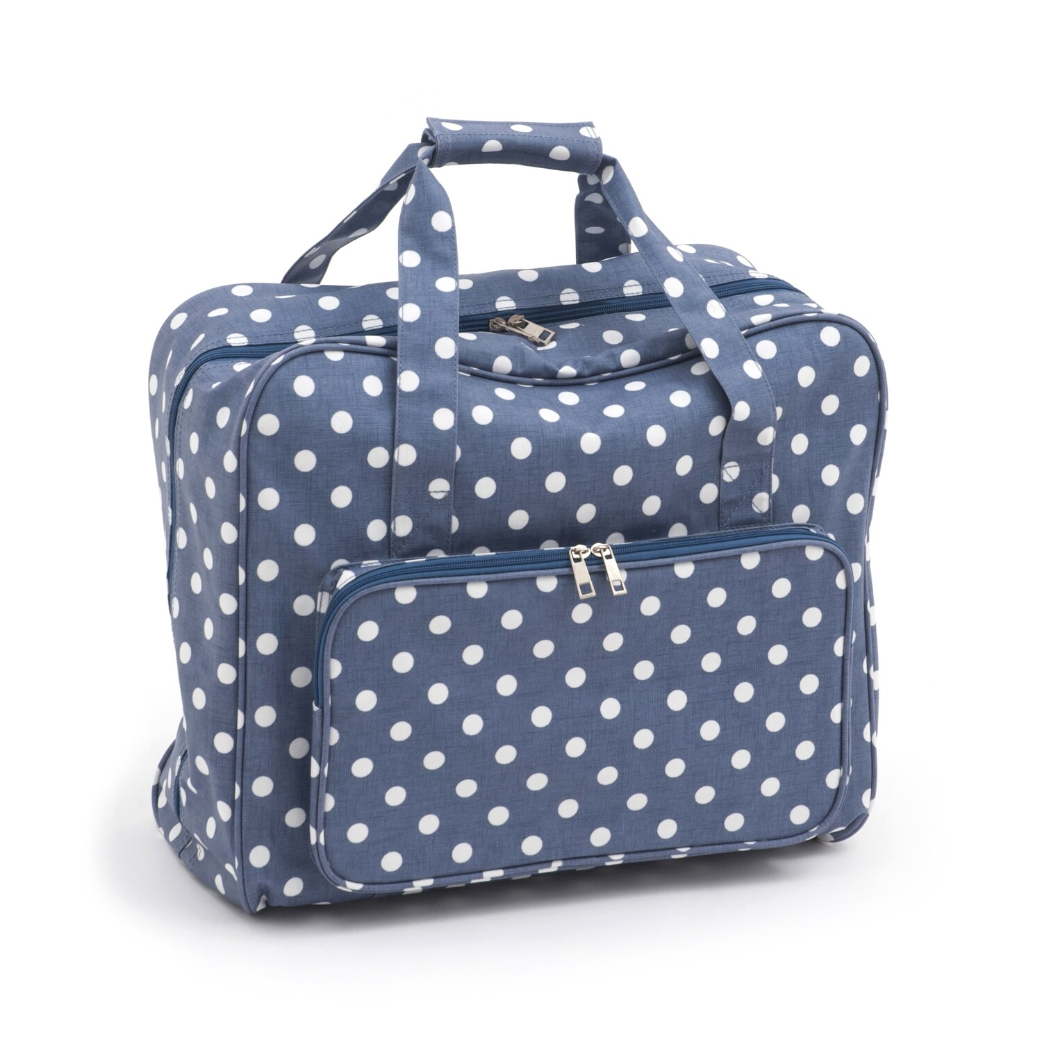 Sewing Machine Bag - Denim Polka Dot