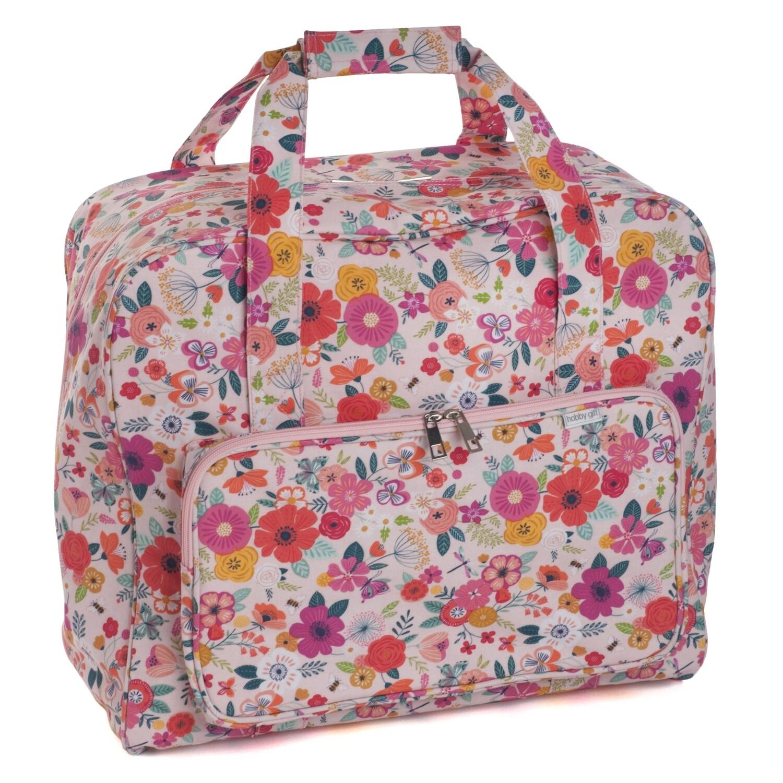 Sewing Machine Bag - Floral Garden Pink