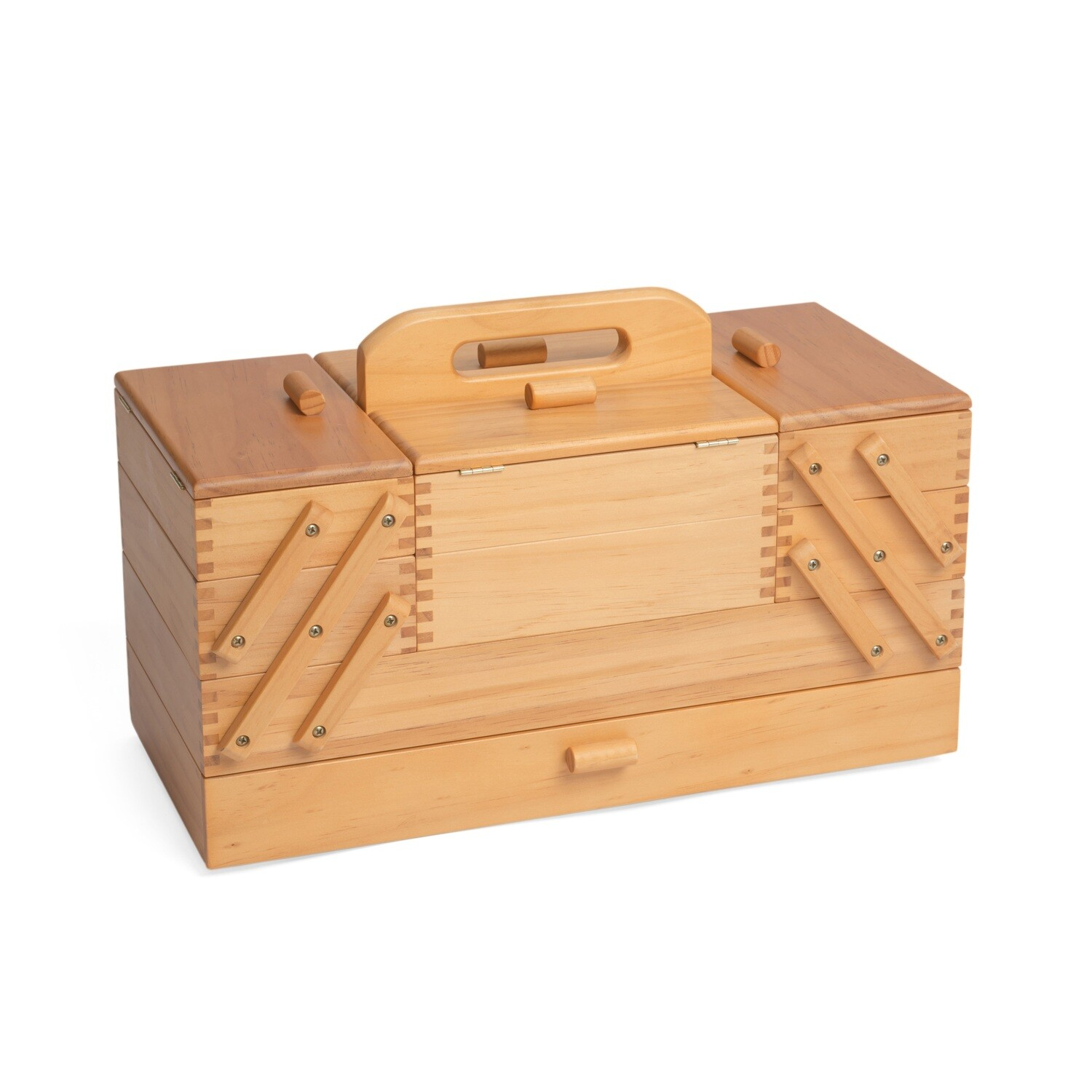 Sewing Box Wood - 4 Tier