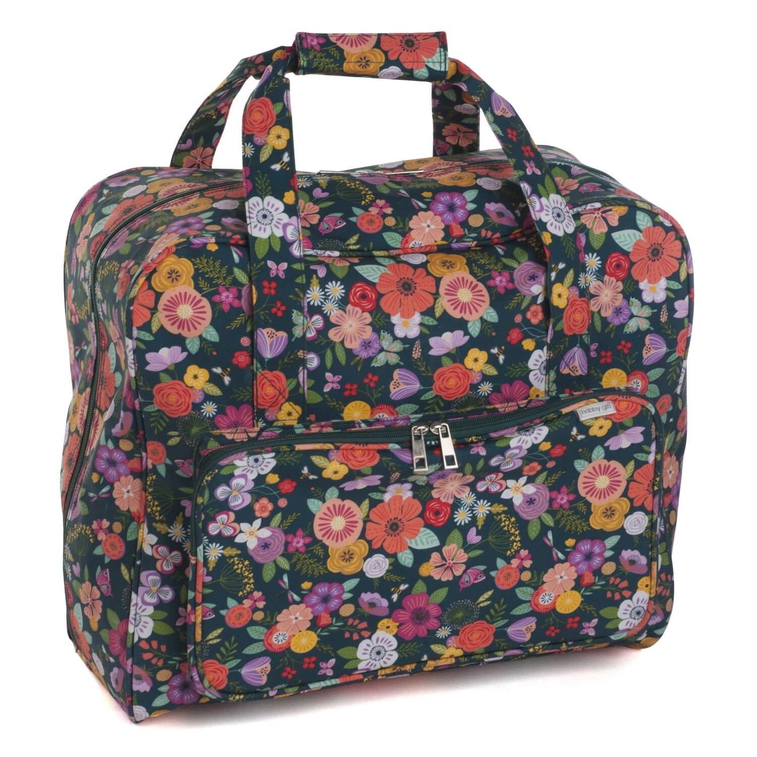 Sewing Machine Bag - Floral Garden Teal