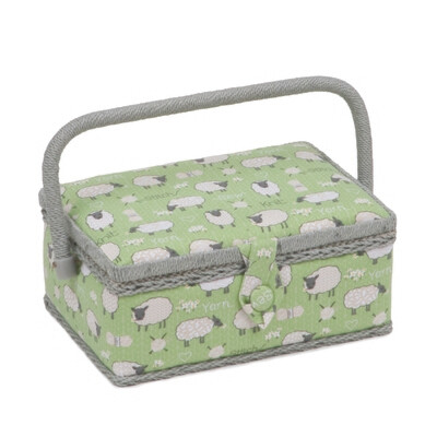 Sewing Box Small Rectangular - Sheep