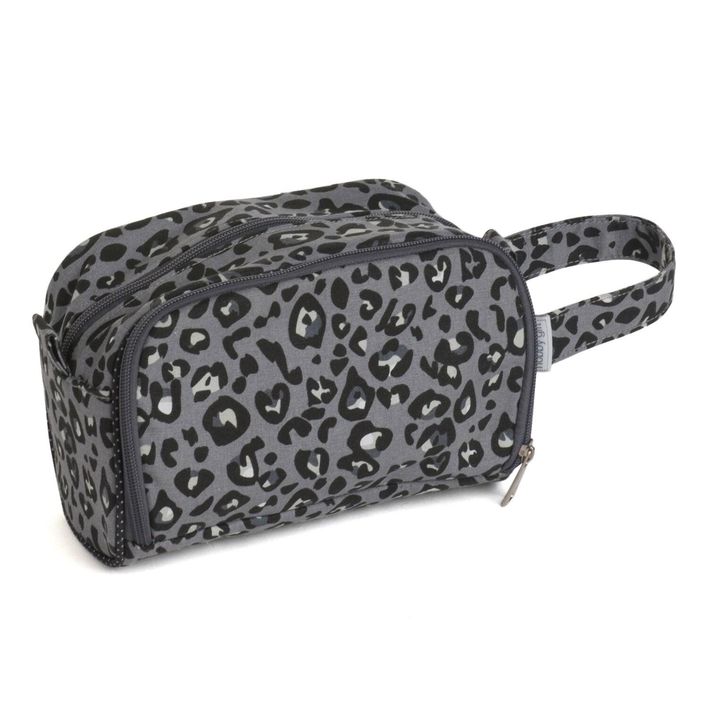 Crochet Hook Bag with Storage - Leopard