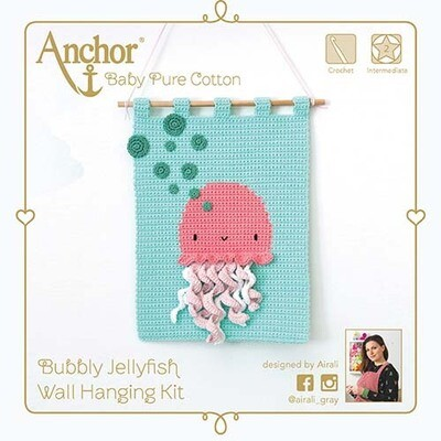 Anchor Crochet Kit - Bubbly Jellyfish 3D Wall Hanging
