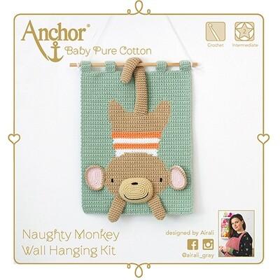Anchor Crochet Kit - Naughty Monkey 3D Wall Hanging