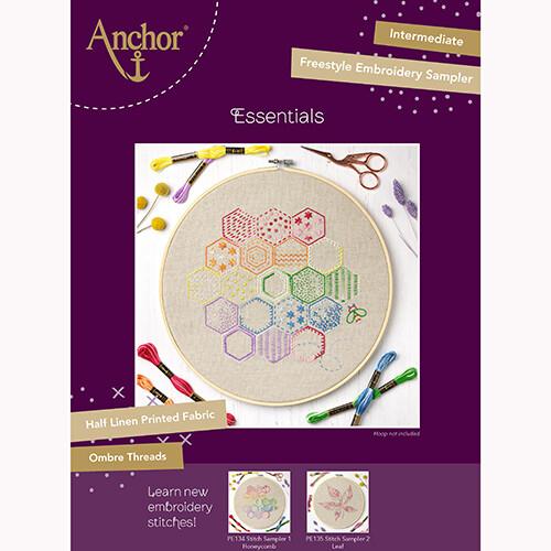 Anchor Essentials Freestyle Kit - Stitch Sampler 1 - Honeycomb