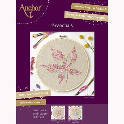 Anchor Essentials Freestyle Kit - Stitch Sampler 2 - Leaf