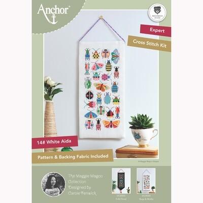 Anchor Essentials Cross Stitch Kit - Bugs & Moths