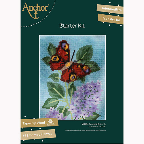 Anchor Starter Tapestry Kit - Peacock Butterfly