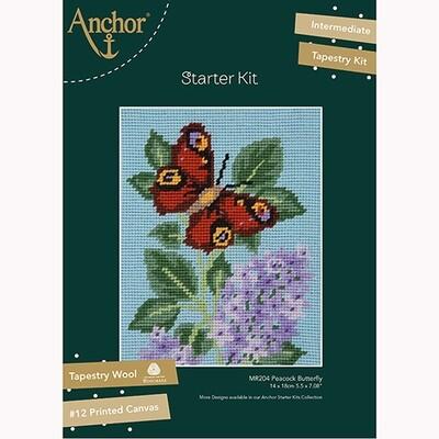 Anchor Starter Tapestry Kit - Peacock Butterfly