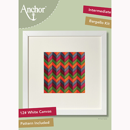 Anchor Starter Long Stitch Kit - Chevron Bargello