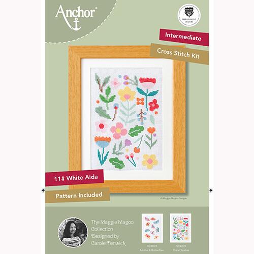 Anchor Starter Cross Stitch Kit - Floral Scatter