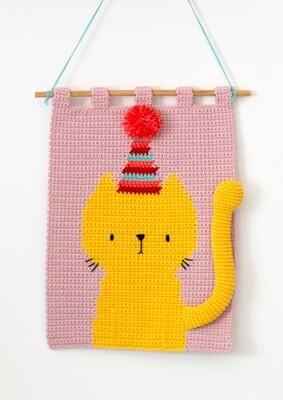 Party Cat Wall Hanging