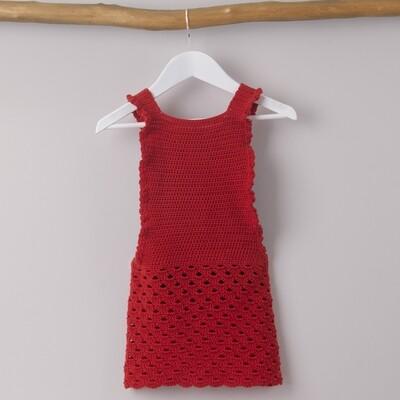 Sweet Frill Red Dress