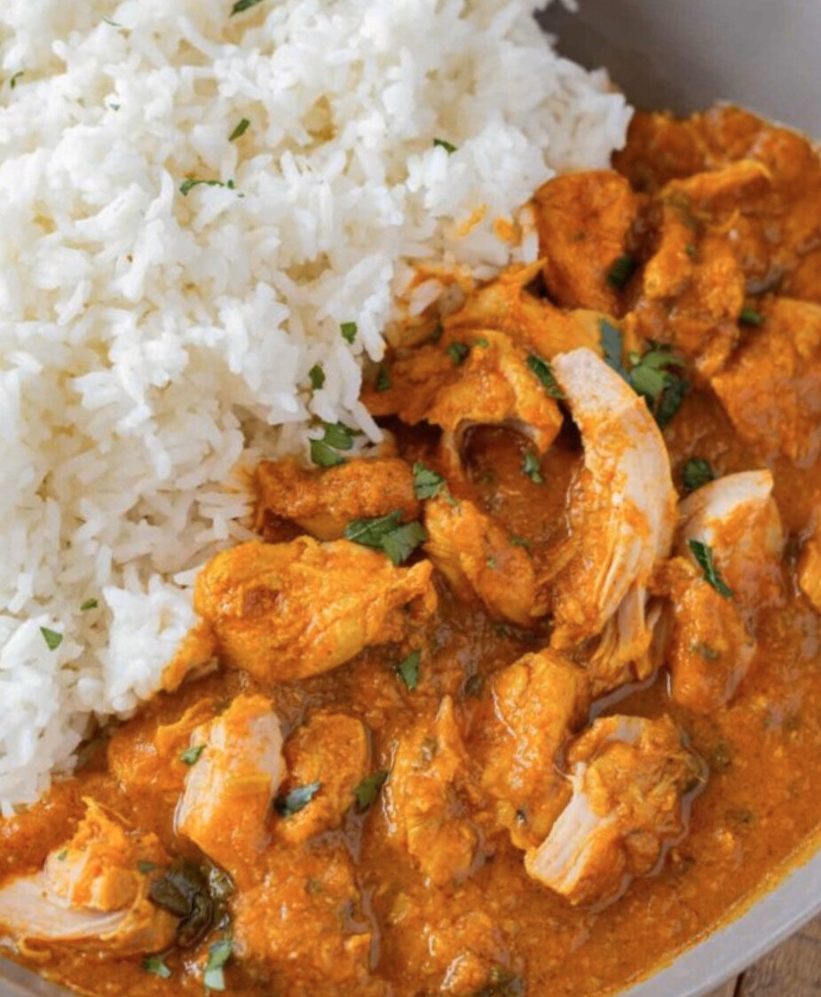 HOMEMADE CHICKEN CURRY WITH RICE