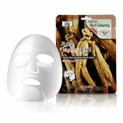 Тканевая маска для лица КРАСНЫЙ ЖЕНЬШЕНЬ Fresh Red Ginseng Mask Sheet
