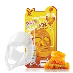 Тканевая маска д/лица Медовая Honey DEEP POWER Ringer mask pack