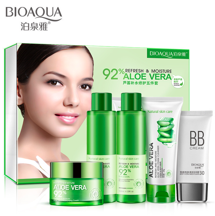 Набор из 5 средств для лица с Алоэ Вера 5-set Refresh and Mijsture Aloe Vera 92%