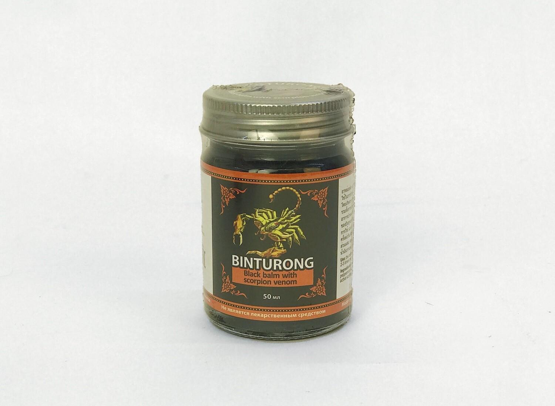 Binturong Black Balm with Scorpion venom - чёрный бальзам с ядом скорпиона