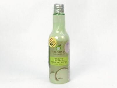 Кокосовое масло с ароматом лаванды. Organic cold pressed virgin coconut oil TROPICANA