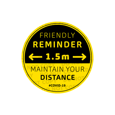 SD Friendly Reminder Stickers 300mm (Pack of 10)