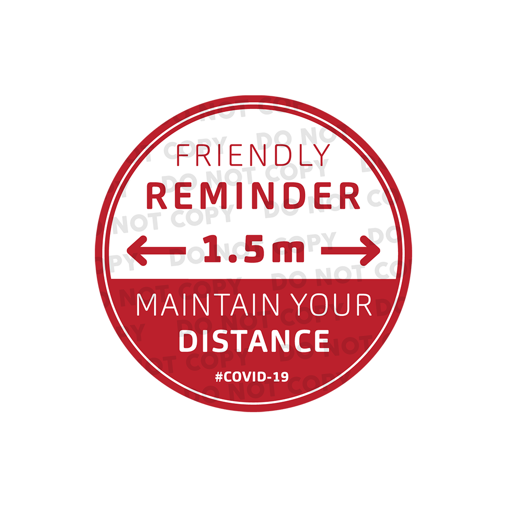 SD Friendly Reminder Stickers 400mm (Pack of 10)
