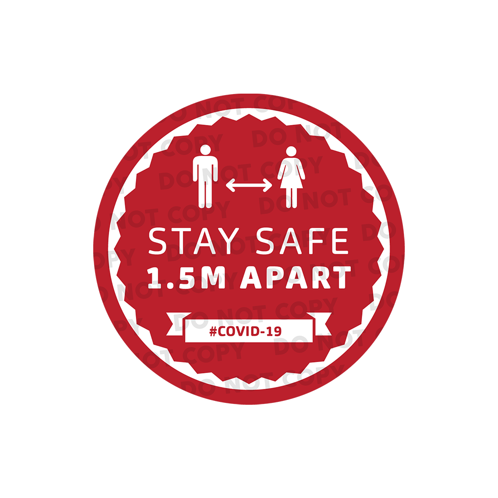 SD Stay Safe Stickers 300mm (Pack of 10)