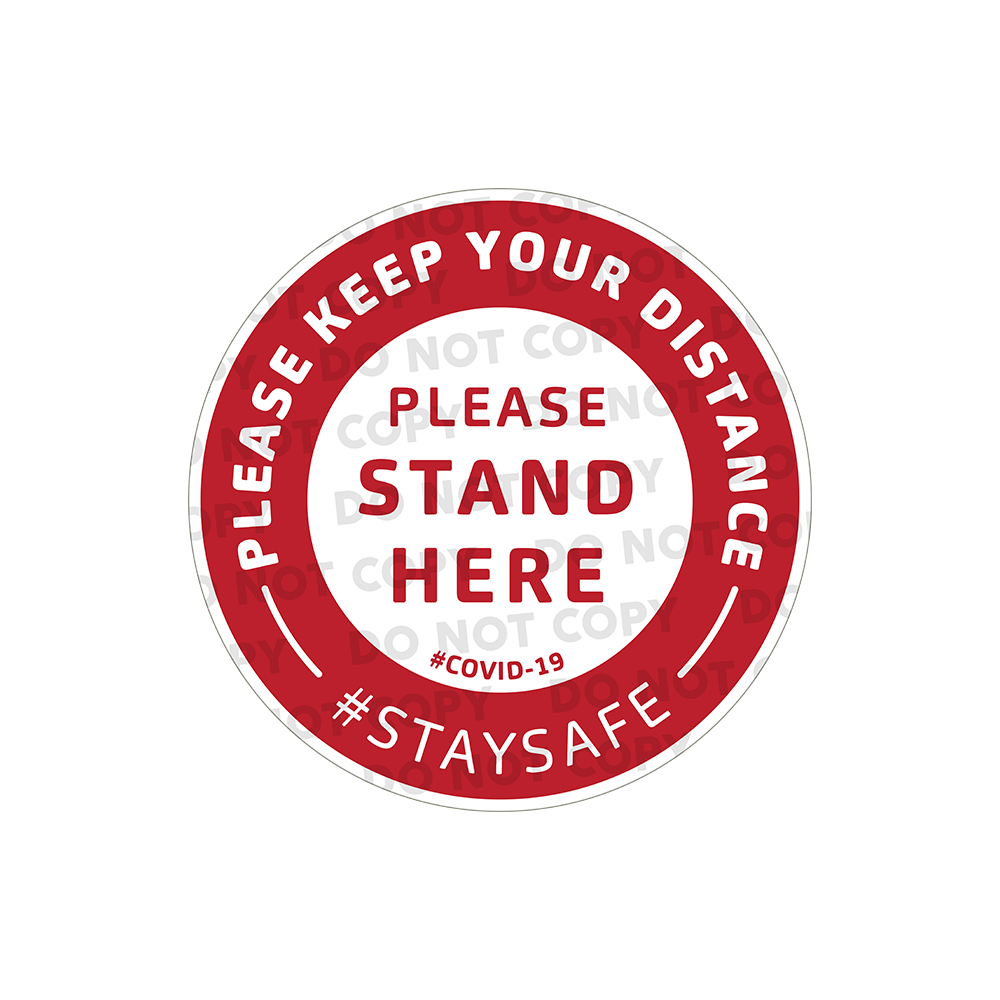SD Please Stand Here Stickers 100mm (Pack of 100)