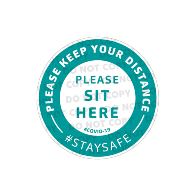 SD Please Sit Here Stickers 100mm (Pack of 100)
