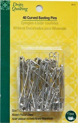 Dritz Curved Basting Pin sz 3- Long Arm Packaging