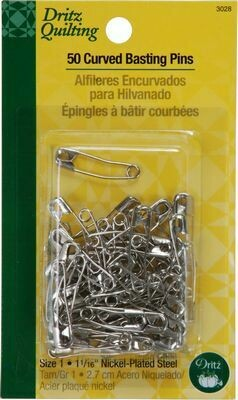 Dritz Pin Safety Curve Nickel Sz1 50pc