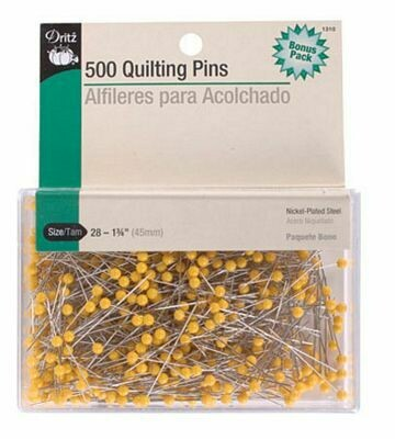 Dritz Quilter's Pins 1-3/4in 500ct 6/box