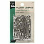 Dritz Quilters Nickel Finish Safety Pins Sz3 40ct