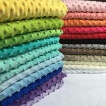 Minky Fleece Fabric Dots