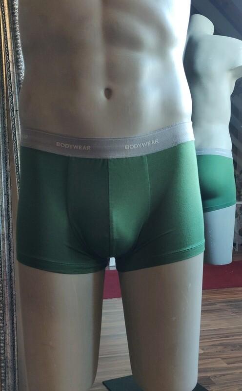 Herrenboxershorts olivgrün