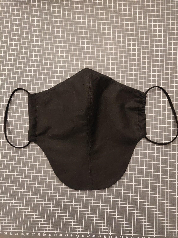 Maske schwarz für Männer mit Bart