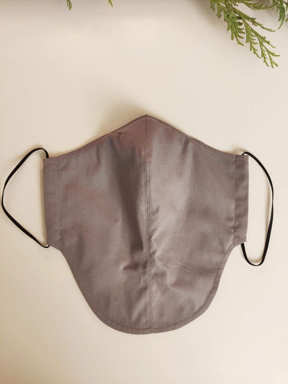 Maske grau für Männer mit Bart
