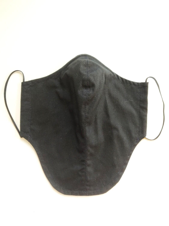 Maske für Bartträger schwarz