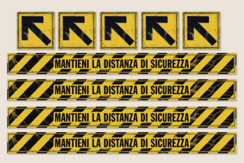 Kit adesivi calpestabili Serie VINTAGE ver.3