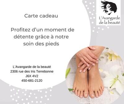 Carte cadeau soin des pieds